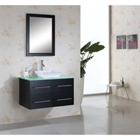 "Virtu USA Marsala 35"" Single Sink Bathroom Vanity - Espresso MS-565"