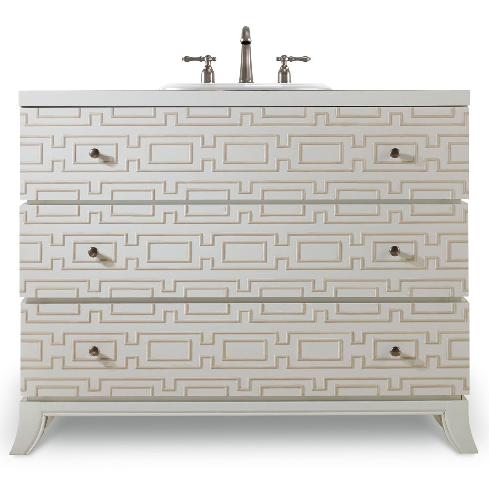 "Cole & Co. 43"" Designer Series Penelope Hall Chest - Brilliant Diamond White"