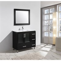 "Design Element Stanton 40"" Bathroom Vanity Set with Drop-In Sink - Espresso B40-DS"