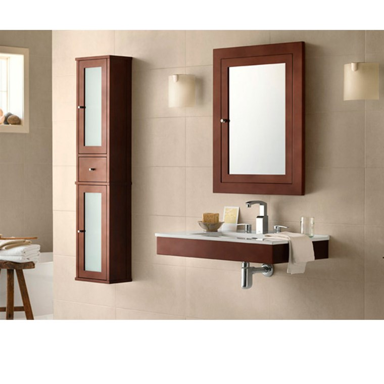 "RONBOW Adina 31"" Vanity Integrated - Dark Cherry RONBOW 015631-H01-INTEGRATED"