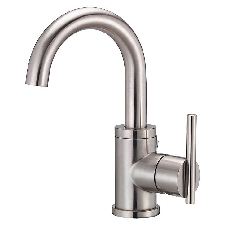 Danze Parma Single Handle Lavatory Faucet Tall Brushed Nickel Free Shipping Modern Bathroom