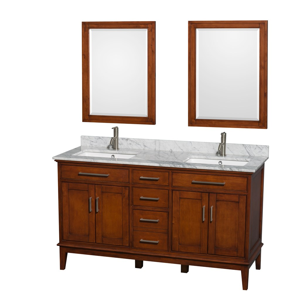 Hatton 60 double bathroom vanity by wyndham collection for Levi 29 5 single modern bathroom vanity set