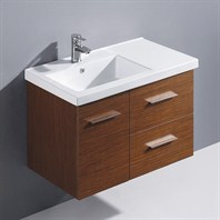 "Vigo 31"" Moderna Trio Single Bathroom Vanity - Wenge VG09033118K1"