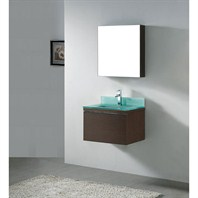 "Madeli Venasca 24"" Bathroom Vanity with Glass Basin - Walnut B990-24-002-WA-GLASS"