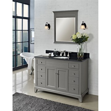 Fairmont designs 48 smithfield vanity medium gray for Bathroom ideas grey vanity