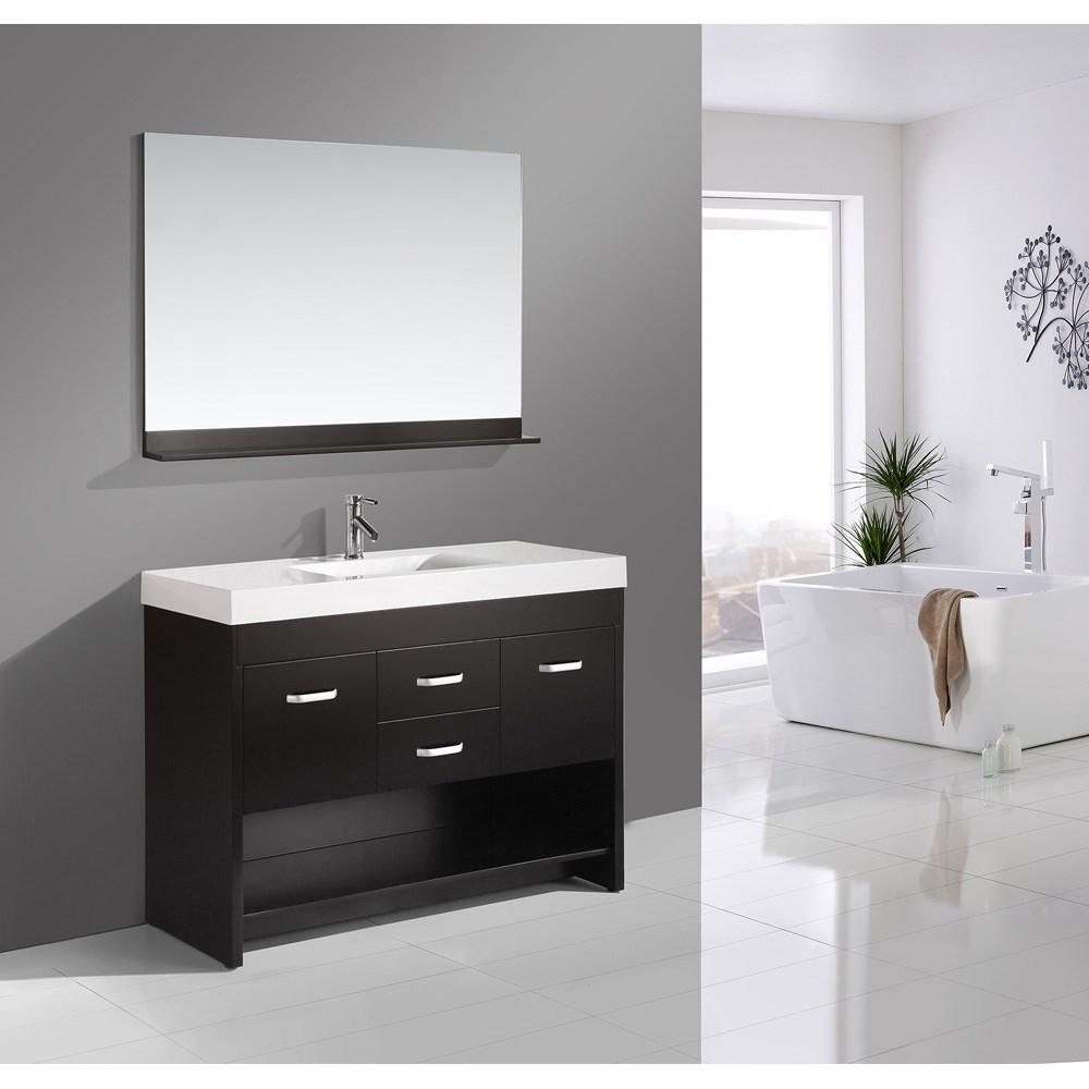 "Design Element Citrus 48"" Single Sink Bathroom Vanity Set - Espressonohtin Sale $1149.00 SKU: DEC074S :"