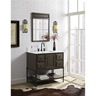 "Fairmont Designs Toledo 36"" Vanity with Doors for Integrated Top - Driftwood Gray 1401-36-"