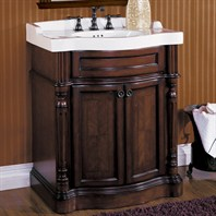 "Fairmont Designs 32"" Traditional Collection Manor Vanity and Sink - Rich Brown"