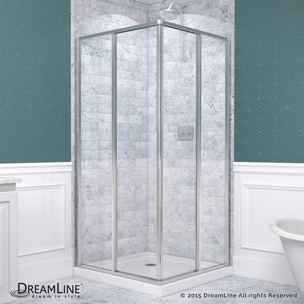 Shower Bath Base bath authority dreamline cornerview framed sliding shower enclosure