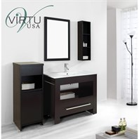 "Virtu USA Masselin 40"" Single Sink Bathroom Vanity Set - Espresso ES-2440-C-ES"
