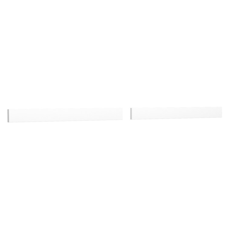 "Replacement 66"" Backsplash - White Cultured Marble REPL-WC-VCA-66-BS-WHC"