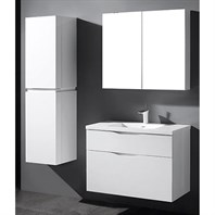 "Madeli Bolano 36"" Bathroom Vanity for Integrated Basin - Glossy White B100-36-022-GW"
