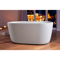 Aquatica Lullaby-Wht (PureScape 602M) Freestanding Solid Surface Bathtub - Matte White Aquatica PS602M-WHT