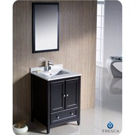 "Fresca Oxford 24"" Traditional Bathroom Vanity - Espresso FVN2024ES"