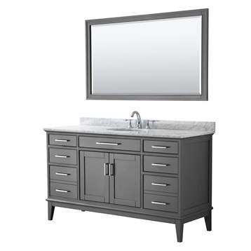 Margate 60 Single Bathroom Vanity by Wyndham Collection - Dark Gray