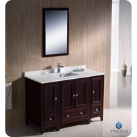 "Fresca Oxford 48"" Traditional Bathroom Vanity with 2 Side Cabinets - Mahogany FVN20-122412MH"
