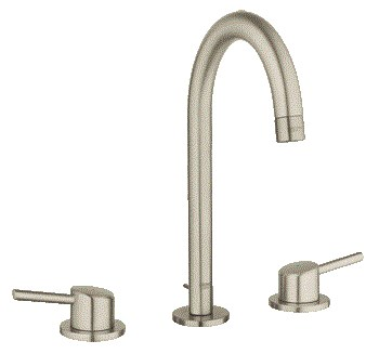 """Grohe Concetto 3-Hole Lavatory Wideset, 1/2"""" L-Size - Brushed Nickelnohtin Sale $372.99 SKU: GRO 20217EN1 :"""