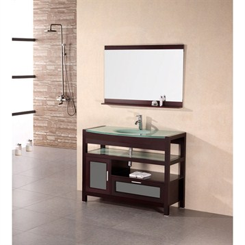 "Design Element Designer's Pick 43"" Bathroom Vanity Set, Mahogany DEC025 by Design Element"