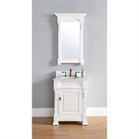"James Martin 26"" Brookfield Single Cabinet Vanity - Cottage White 147-114-V26-CWH"