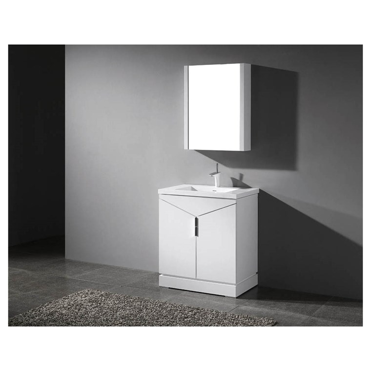 "Madeli Savona 30"" Bathroom Vanity for Integrated Basin - Glossy White B925-30-001-GW"