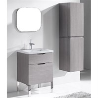 "Madeli Milano 24"" Bathroom Vanity for Integrated Basin - Ash Grey B200-24-021-AG"