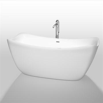 """Donna 67"""" Soaking Bathtub by Wyndham Collection, White WC-BTO861-67 by Wyndham Collection®"""