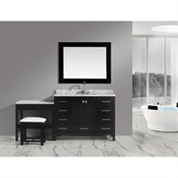 "Design Element London 48"" Vanity Set with Make-up Table - Espresso DEC082C_MUT"