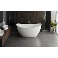 Aquatica Purescape 171 Mini Freestanding Cast Stone Bathtub - Matte White Aquatica PS171M-Mini-Wht