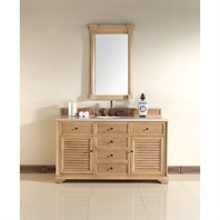 "James Martin 60"" Savannah Single Vanity - Natural Oak 238-104-5321"