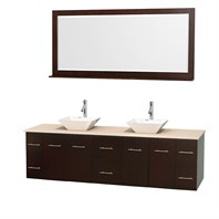 "Centra 80"" Double Bathroom Vanity for Vessel Sinks by Wyndham Collection - Espresso WC-WHE009-80-DBL-VAN-ESP_"