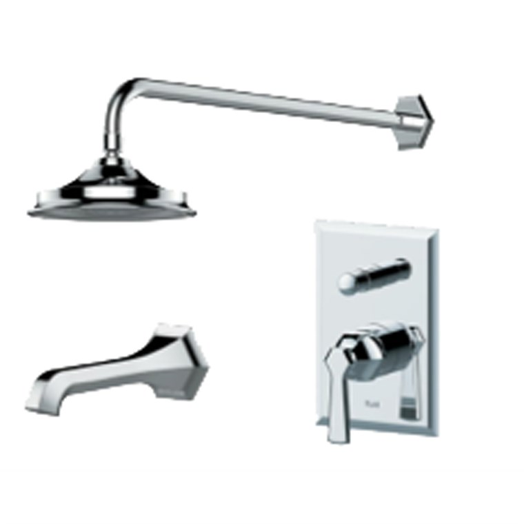 fluid Symmetry Pressure Balancing Tub & Shower Trim Package F1740T-