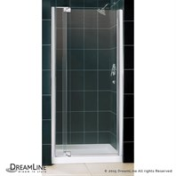 "Bath Authority DreamLine Allure Frameless Pivot Shower Door and SlimLine Single Threshold Shower Base (36"" by 36"") DL-6430C-01CL"