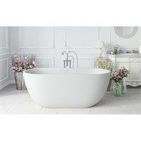 Aquatica Corelia-Wht (PureScape 617BM) Freestanding Solid Surface Bathtub - Matte White Aquatica PS617M