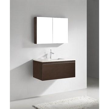 """Madeli Venasca 36"""" Bathroom Vanity with Quartzstone Top, Walnut B990-36-002-WA-QUARTZ by Madeli"""