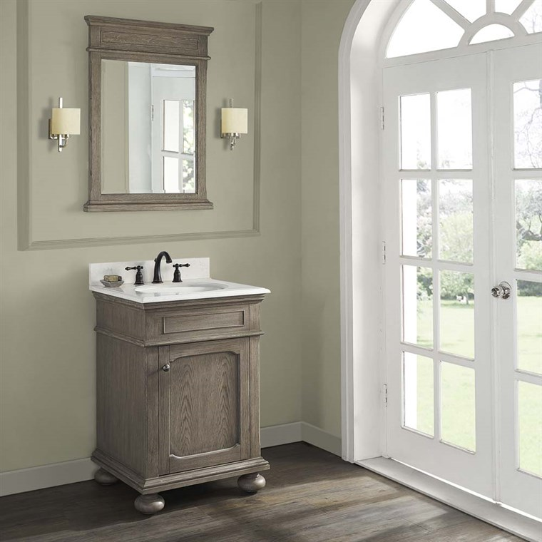 "Fairmont Designs Oakhurst 24"" Vanity for Undermount Oval - Antique Grey 1535-V24_"