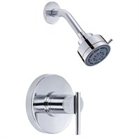 "Danze® Parma™ Single Single Handle Shower Only Faucet Trim Kit with 3"" Three Function Showerhead - Chrome"