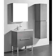 "Madeli Soho 30"" Bathroom Vanity for Quartzstone Top - Ash Grey B400-30-001-AG-QUARTZ"