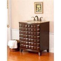 "Virtu USA Florence 30"" Single Sink Bathroom Vanity - Antique Walnut LS-1011-T-AW"