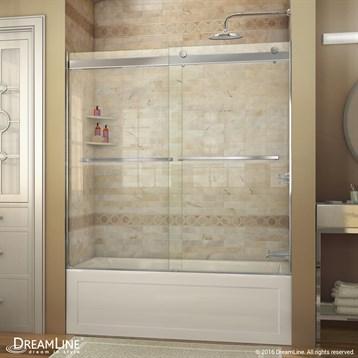 Bath Authority DreamLine Essence 56   60 In. Frameless Sliding Tub Door |  Free Shipping   Modern Bathroom