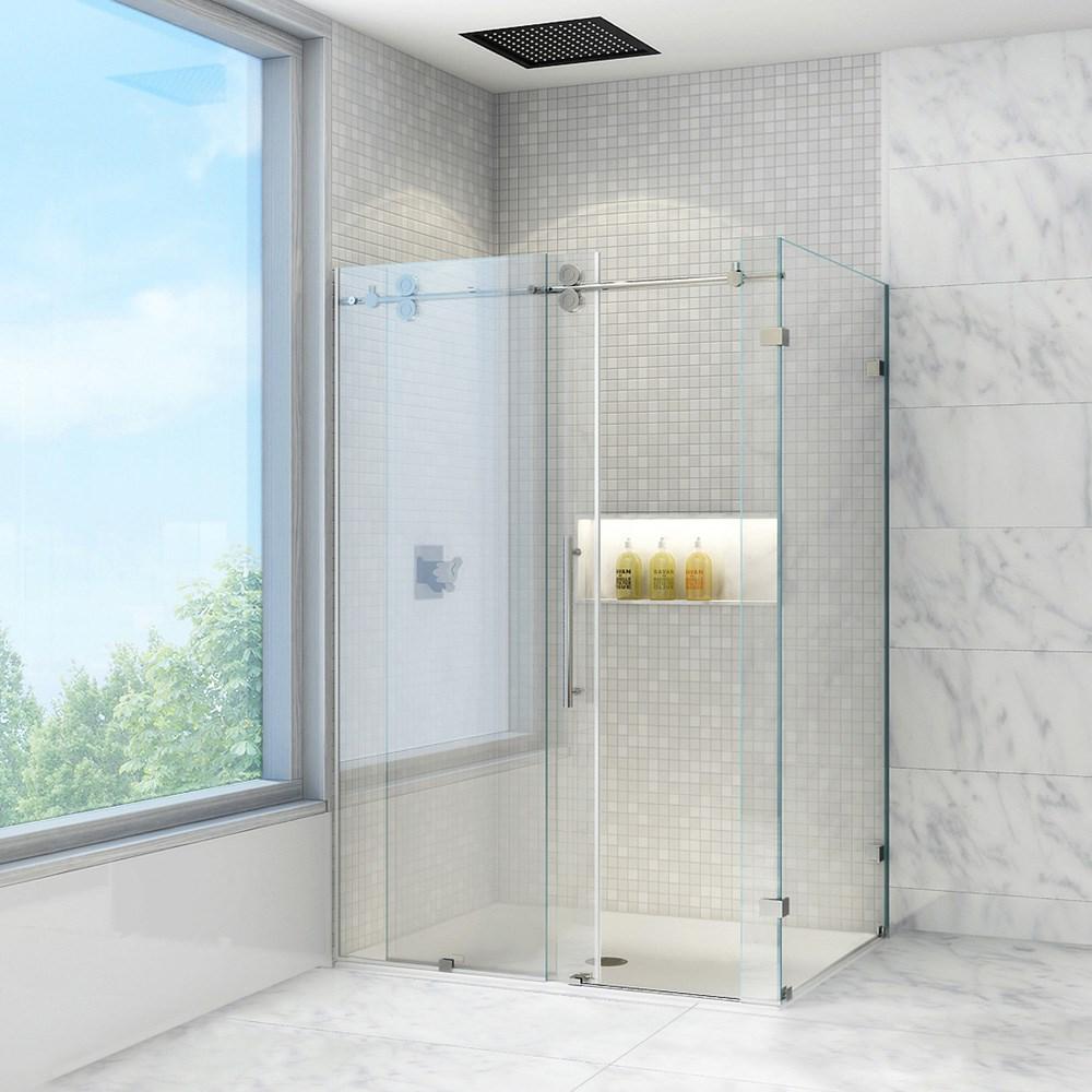 Vigo Industries Frameless Rectangular Shower Enclosure - 36\