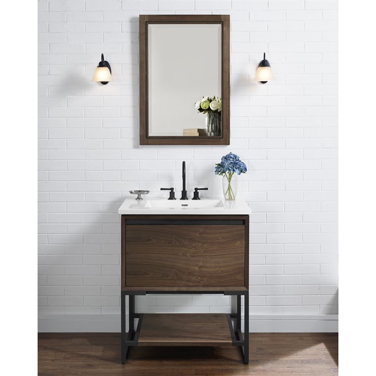 "Fairmont Designs M4 30"" Vanity for Integrated Sinktop - Natural Walnut 1505-V30-"