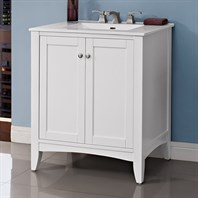 "Fairmont Designs Shaker Americana 30"" Vanity For Integrated Top - Polar White 1512-V30-"