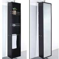 Wyndham Collection Barcelona Rotating Storage Cabinet - Espresso