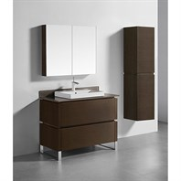 "Madeli Metro 42"" Bathroom Vanity for Glass Counter and Porcelain Basin - Walnut B600-42-001-WA-GLASS"