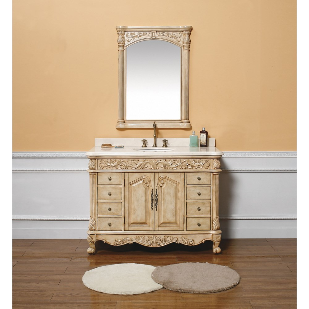 "James Martin 48"" Monte Carlo Single Vanity with Marble Top - Parchmentnohtin Sale $1495.00 SKU: 206-001-5126 :"