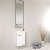Fresca Pulito Small White Modern Bathroom Vanity with Tall Mirror FVN8002WH