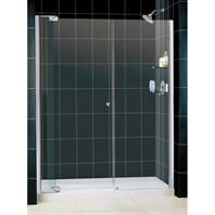 "Bath Authority DreamLine Allure Frameless Pivot Shower Door and SlimLine Single Threshold Shower Base (30"" by 60"") DL-6432"