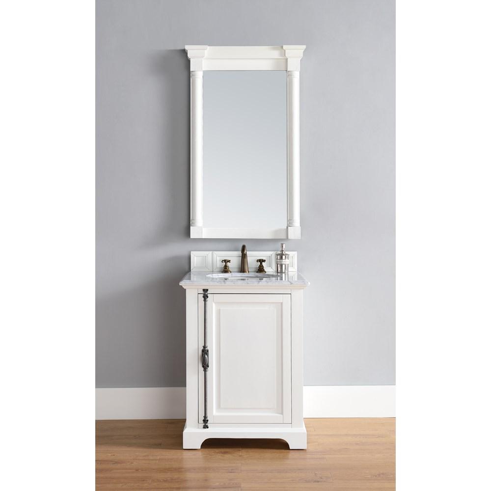 "James Martin 26"" Providence Single Cabinet Vanity - Cottage Whitenohtin Sale $750.00 SKU: 238-105-V26-CWH :"
