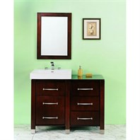 "Fairmont Designs Midtown 44"" Modular Vanity and Sink Set - Espresso 145-V2418B_DB1818_LEG"