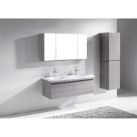 "Madeli Venasca 48"" Double Bathroom Vanity for X-Stone Top - Ash Grey B990-48D-002-AG-XSTONE"